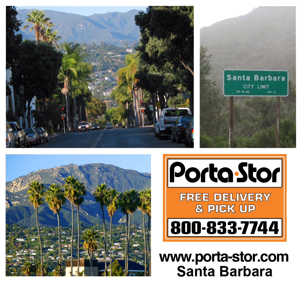 Rent Portable Storage Containers in Santa Barbara