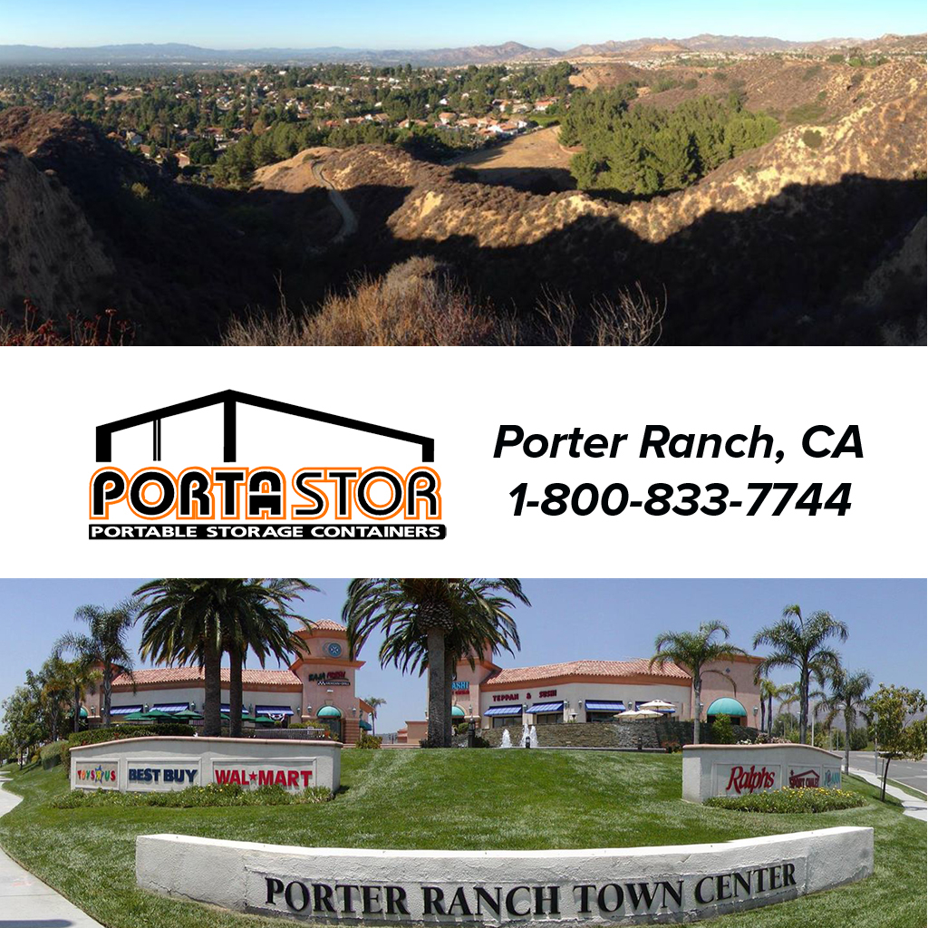 Rent portable storage containers in Porter Ranch, CA