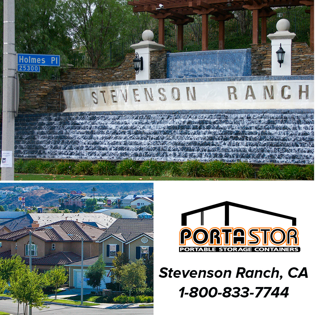 Rent portable storage containers in Stevenson Ranch, CA